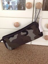 GREAT STEFANEL LARGE CLUTCH BAG WITH CAMOUFLAGE PATTERN NEW WITH DEFECT