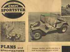 Vintage 1963 Empi Sportster Plans & Specifications Digital Copy VW Dune Buggy