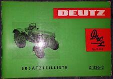 Deutz Schlepper D40 Ersatzteilliste