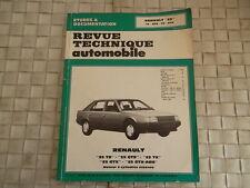 REVUE TECHNIQUE RENAULT 25 TS GTS TX GTX GTX-ABS MOTEUR ESSENCE