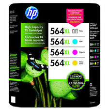 4 Pack Genuine HP 564 XL Color Photo C M Y Ink Cartridges Photosmart B8550 D7500
