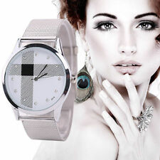 Montre Style Anglais Swarovski Luxe Strass Cristal Argent Femme Watch Lady