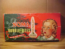 Vintage Boxed Set of 9 NOMA C6 Christmas Biscuit Bubble Lights-Cat. No. 509-VGC