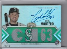 2012 TOPPS TRIPLE THREADS #144 JESUS MONTERO AUTOGRAPH RC JERSEY MARINERS 22/50