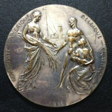 Belgium 1914 American Generosity Medal, Belgian Gratitude. Beautiful 70 mm / M69