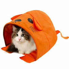 Cat Bed Tent Orange Mouse Shape Tent Collapsible Summer Pet Cat Kennel Bed House