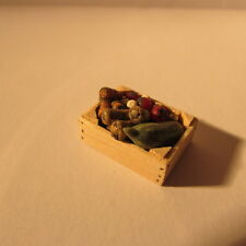 Doll house miniature food~crate of veg~1/24 scale~