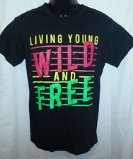RUE 21 BLACK LIVING YOUNG WILD & FREE PRINTED SHORT SLEEVE T- SHIRT - SMALL
