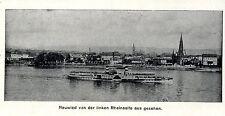 Schiffahrt * Dampfschifffahrt Rhein * Neuwied * Bilddokument von 1906