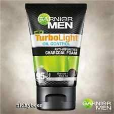 100ml GARNIER for MEN TurboLight Oil CHARCOAL BLACK Foam Anti Acne Cleanser Wash