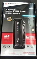 MOTOROLA ARRIS SURFBOARD MODEM AND WI-FI ROUTER N300 DUAL BAND