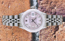 Ladies Fully Loaded PINK Diamond Dial, Bezel & Shoulders Rolex Datejust.