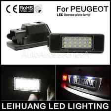 2x LED LICENSE PLATE LIGHT FOR PEUGEOT CITROEN HATCHBACK 207 307 308 406 407 106
