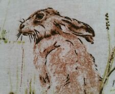 "Vintage Rabbits & Hare Cushion Cover Same Backs16"" pillow"
