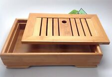 Music City Tea Chinese Bamboo Gongfu Tea Table Serving Tray Small Size