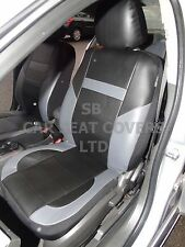 i - TO FIT A TOYOTA AVENSIS CAR, SEAT COVERS, LEATHERETTE, BLACK/grey