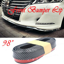Universal PU Carbon Front Bumper Lip Splitter Chin Spoiler Body Trim For BMW