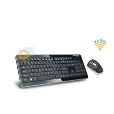 KIT MOUSE E TASTIERA WIRELESS PER PC 2.4GHz DESKTOP WIFI KEYBOARD USB SENZA FILI