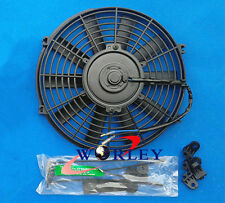 """16 inch electric universal fan with mounting kit cooling radiator 16"""" 12V"""