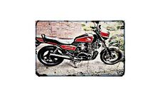 Cb700Sc Motorbike Sign Metal Retro Aged Aluminium Bike
