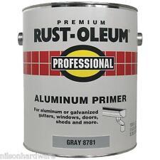 1 Qt Gray RustOleum Stops Rust 250 VOC Flat Latex Aluminum Paint Primer 8781502
