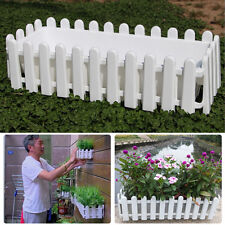 New White Fence Shape Flower Pot #V Home Garden Balcony Outdoor Patio Plant Pot