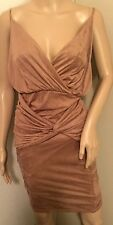 NWT*Hot&Sexy HotMiamiStyles Women Faux Suede Bodycon Evening Dress*Brown*Medium*