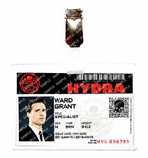 Agents of Shield ID Badge Hydra Grant Ward Avengers Cosplay Costume Halloween