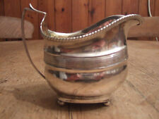 LARGE ANTIQUE (GEORGIAN) SOLID SILVER HELMET SHAPED CREAM JUG