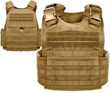 Coyote Brown Military Police Security Molle Tactical Plate Carrier Vest 8923
