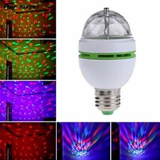 New E27 3W Multicolor Rotating RGB LED Bulb Stage Light Xmas Party Lamp Disco