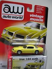`76 Pontiac Firebird T/A  Yellow 1976 **RR** Auto World Muscle 1:64 OVP