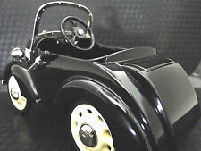 Chevy Pedal Car Custom 1930s Black Vintage Classic A Sport T Midget Metal Model