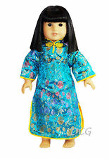 """ROSA CHINESE DRESS - TEAL Outfit for American Girl 18"""" Dolls Ivy Asian"""