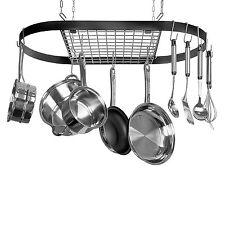 Hanging Pot Pan Rack Kitchen Holder Cookware Storage Organizer Iron Hook Hanger