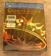 Game of Thrones Complete 2nd Season  Blu-Ray DVD Digital Copy NEW SEALED!