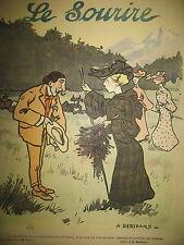 LE SOURIRE N° 205 JOURNAL HUMORISTIQUE DESSINS BERTRAND CADEL POULBOT 1903
