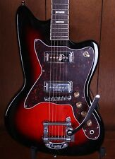 Silvertone Model 1478 Electric Guitar w/ Bigsby Red Silver Flake Burst