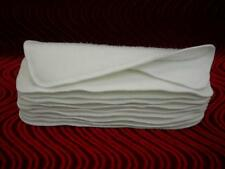 "3 Layer Soaker Cloth Diaper Insert Liner13X5"" Hemp Organic Bamboo Cotton Fleece"