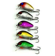 #5pcs Metal Fishing Lures Bass CrankBait Spoon Crank Bait Tackle 5 countenance