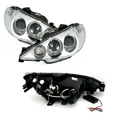 2 FEUX PHARE AVANT ANGEL EYES CCFL BLANC PEUGEOT 206 PHASE 2