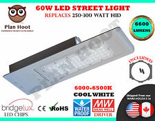 60 Watt LED Street Light Road Outdoor Floodlight Pole Shoe Box Garden Industrial