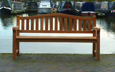 Commercial Wooden Park Bench 4 Seater Quality Teak Outdoor Patio Garden Seat