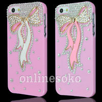 FOR APPLE iPHONE 5 5s BOW CRYSTAL DIAMOND BLING CASE DIAMONTE RHINESTONE COVER