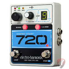 New! Electro-Harmonix EHX 720 Stereo Recording Looper Guitar Pedal - Free Cable!