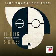 Simone Fauré Quartetto/Kermes-STRAUSS & Mahler-Piano Quartets & CANZONI CD NUOVO