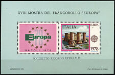 Italy 1978 Europa Castle MNH M/S #D40481