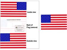 "USA American Flag Vinyl Window Sticker Decal    3""x 5""  MADE IN USA   LOT of 1"