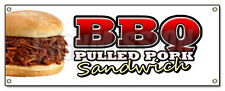 BBQ PULLED PORK SANDWICH BANNER SIGN barbque bbq slow cooked southern Texas