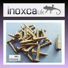 25 @ 4 x 25mm STAINLESS STEEL TORX BUTTON HEAD WOOD SCREW SECURITY PIN + T20 BIT